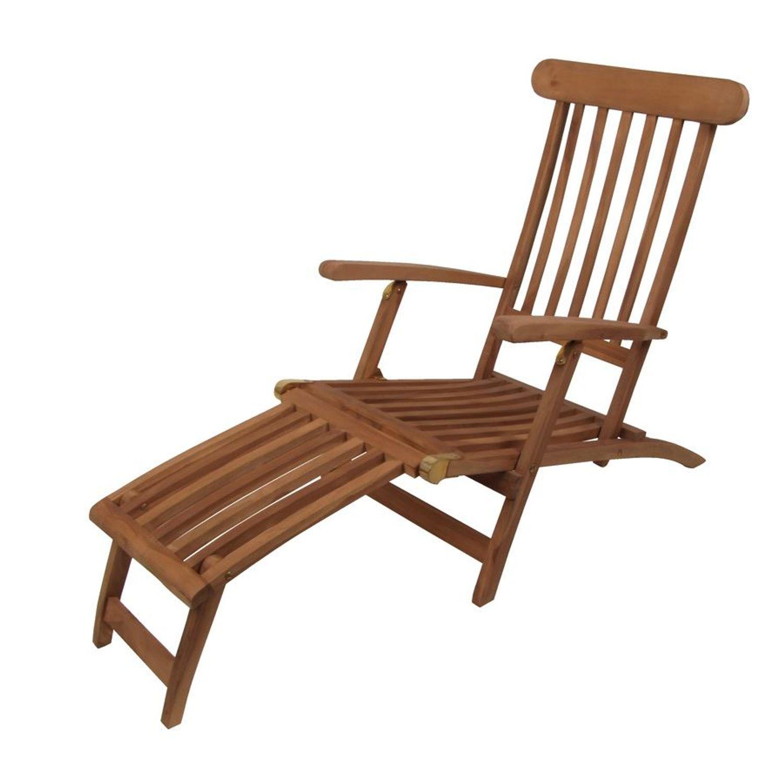 Deckchair Liegestuhl Gartenliege Sonnenliege Relaxliege Gartenstuhl Teakholz Garten Möbel Liegen  ~ 10133749_Teakholz Liegestuhl Gebraucht