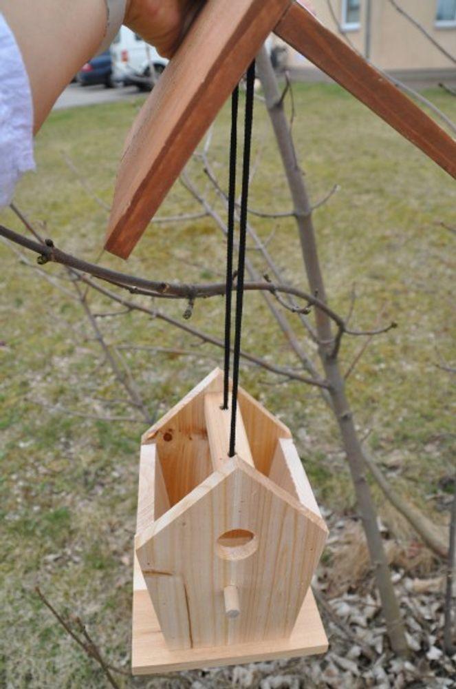 Vogel-Nisthöhle Vogelhaus Nistkasten Brutkasten Brutstätte Vogelhäuschen Holz – Bild 3
