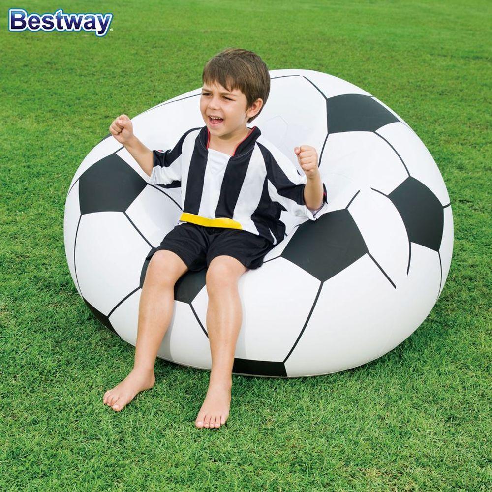 Aufblasbarer Sessel Fussball Sitzsack Relaxsessel Luftsessel Fernsehsessel Ball – Bild 2