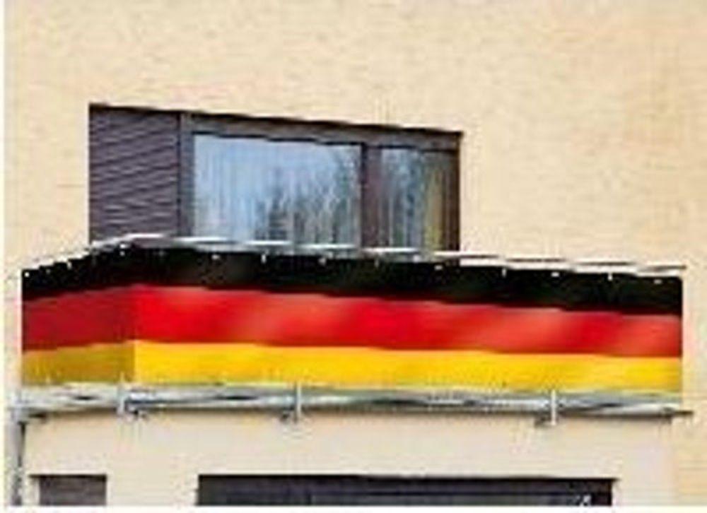 Deutschlandfahne 5 Meter Fussball Weltmeisterschaft WM Balkonsichtschutz Banner  – Bild 1