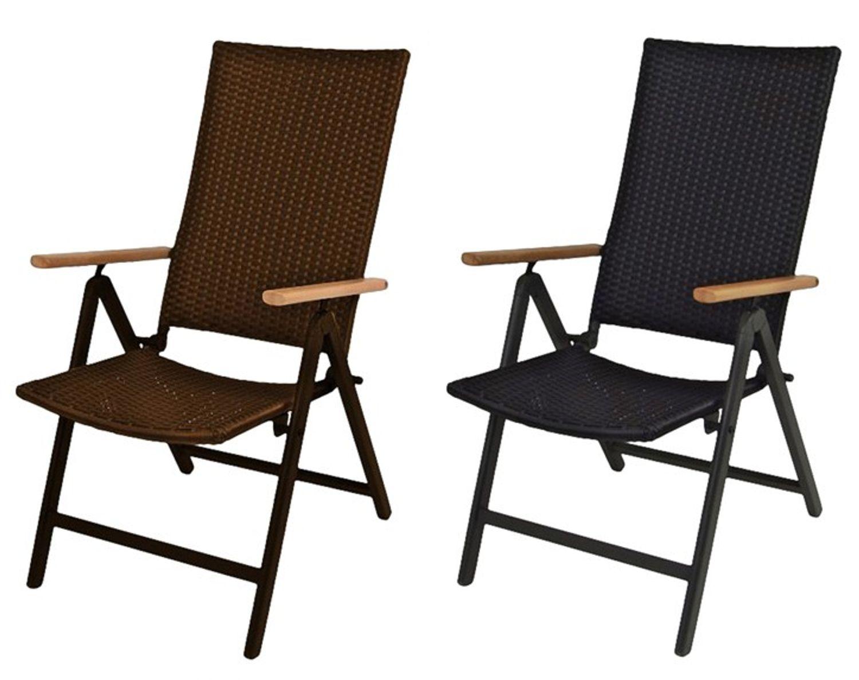 alu klappsessel serra braun oder schwarz sessel gartenstuhl relax gartensessel garten m bel. Black Bedroom Furniture Sets. Home Design Ideas