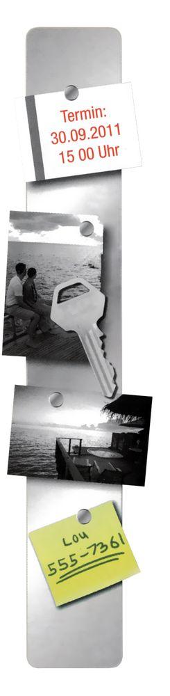 Memo Magnetleiste klein Pinboard Magnet Aufhängung Büro Schlüsselleiste Neu