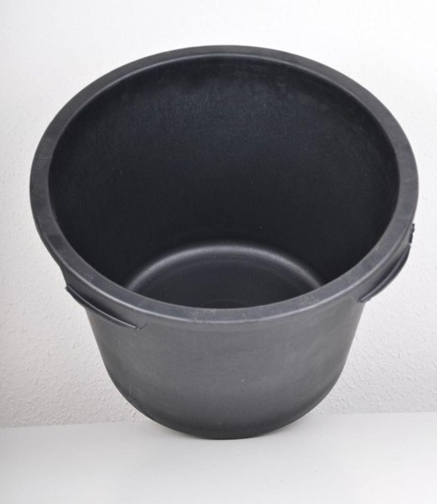 10x Mörtelkübel rund 40 Liter schwarz