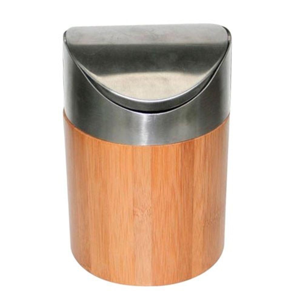 Bambus Tischabfalleimer Kosmetikeimer Tischmülleimer Abfallsammler Papierkorb