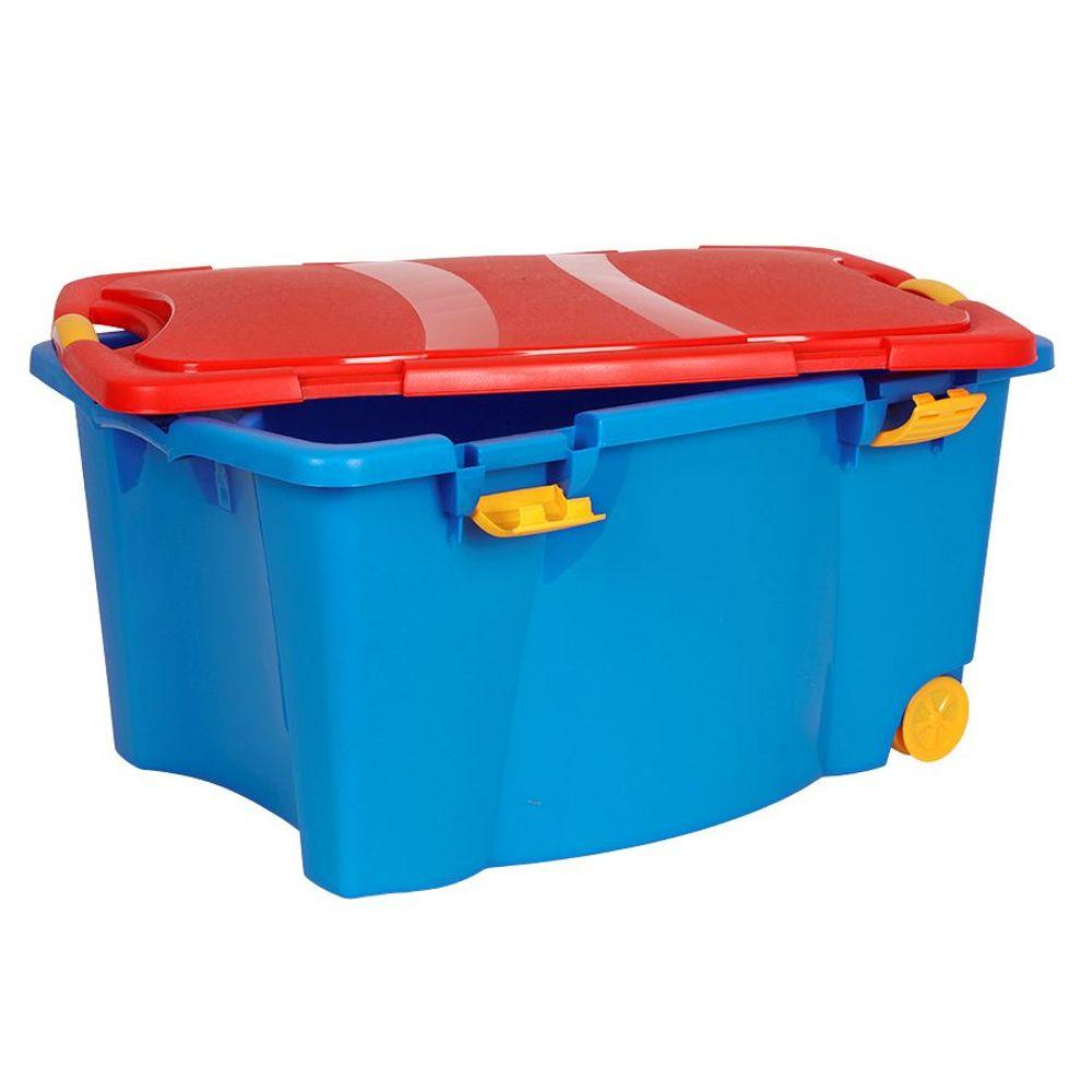 Aufbewahrungsbox bunt Spielzeugkiste Rollenbox Allzweckbox Aufbewahrungskiste  – Bild 1