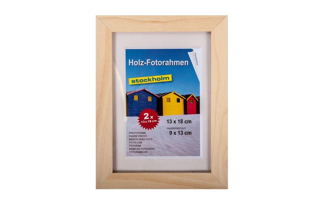 Holz-Fotorahmen 13x18cm 2er Pack versch. Farben Bilderrahmen Rahmen Bilder Foto – Bild 3