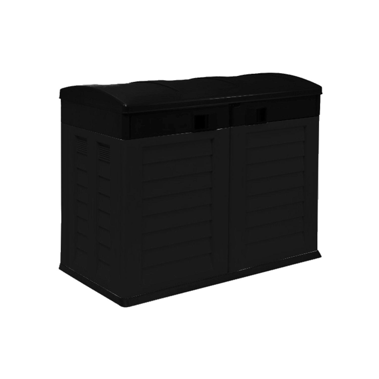 Garten Aufbewahrungsbox Mülltonnenbox Geräteschrank Gartenbox Mülltonnenschrank
