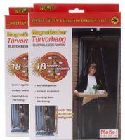 2 x Insektenschutz Tür 210 x 100 Türvorhang magnetisch Fliegengitter Anthrazit 001