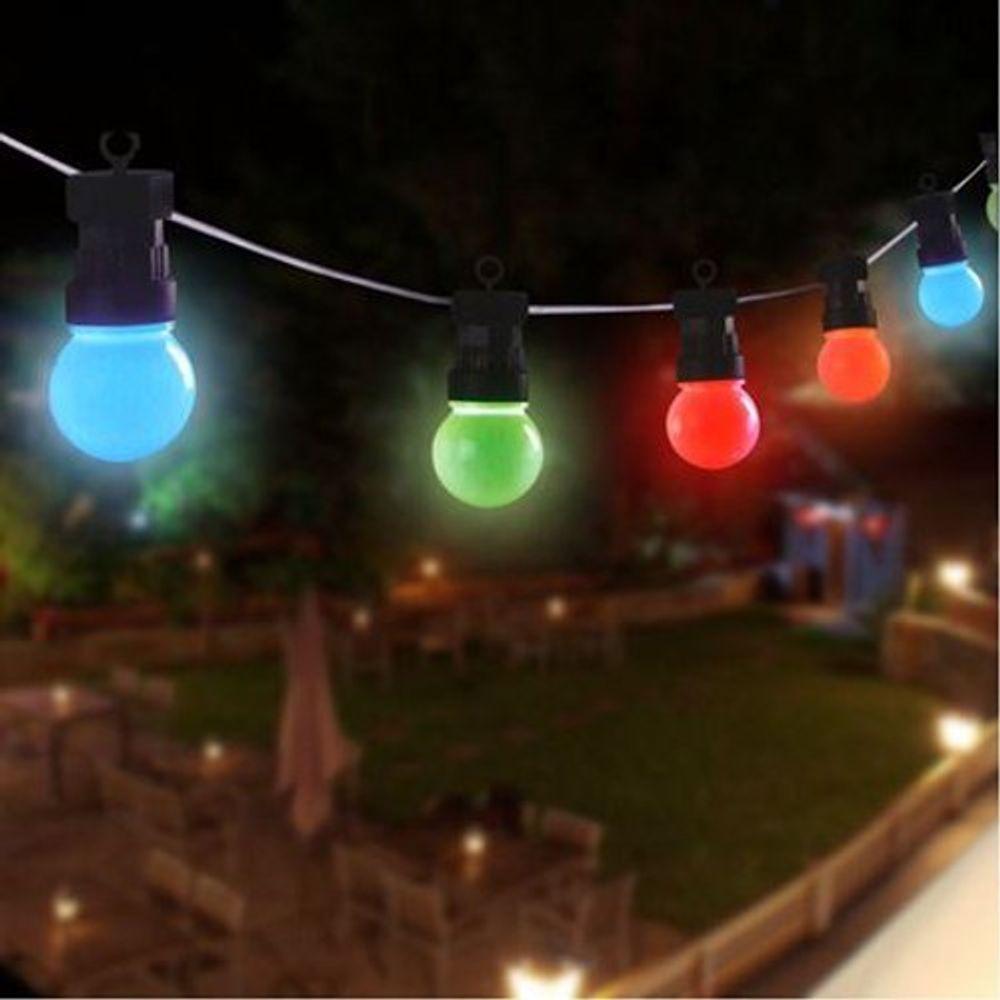 LED Biergarten-Lichterkette 20er Partylichterkette Außenlichterkette Partydeko – Bild 1