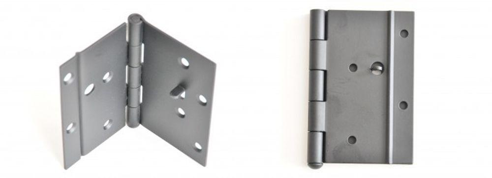 16x Scharnier Schwarz 100x130 mm mit Sicherungsstifft Türscharnier