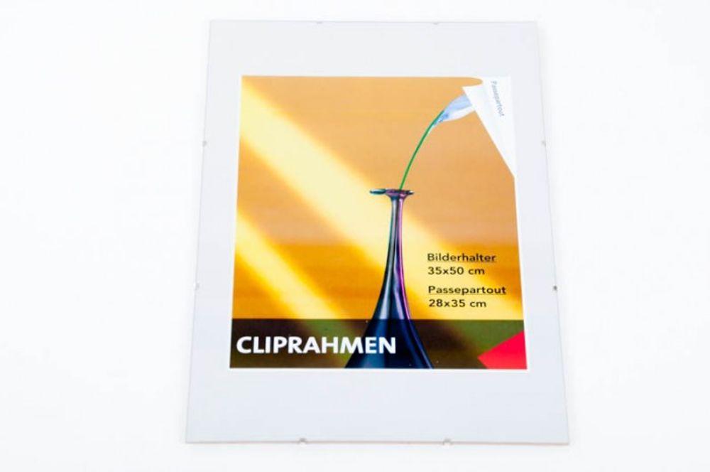 Rahmenloser Cliprahmen 35x50 cm Bilderrahmen Fotorahmen Bilderhalter Wanddeko