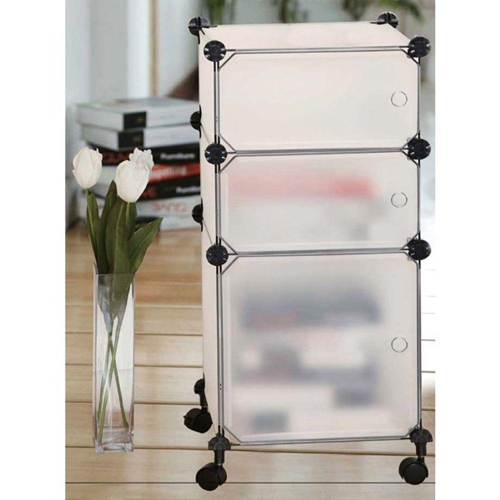 Rollwagen Büroschrank Rollschrank Büroregal Rollregal Badezimmerregal Regal  – Bild 1