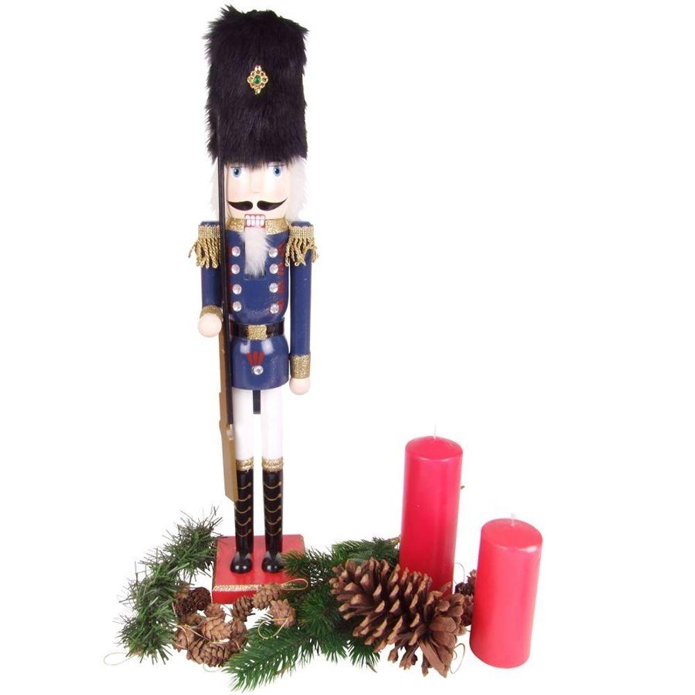 Holz-Nussknacker 61cm Weihnachtsdeko Weihnachten Deko Nuss Knacker König Husar – Bild 2