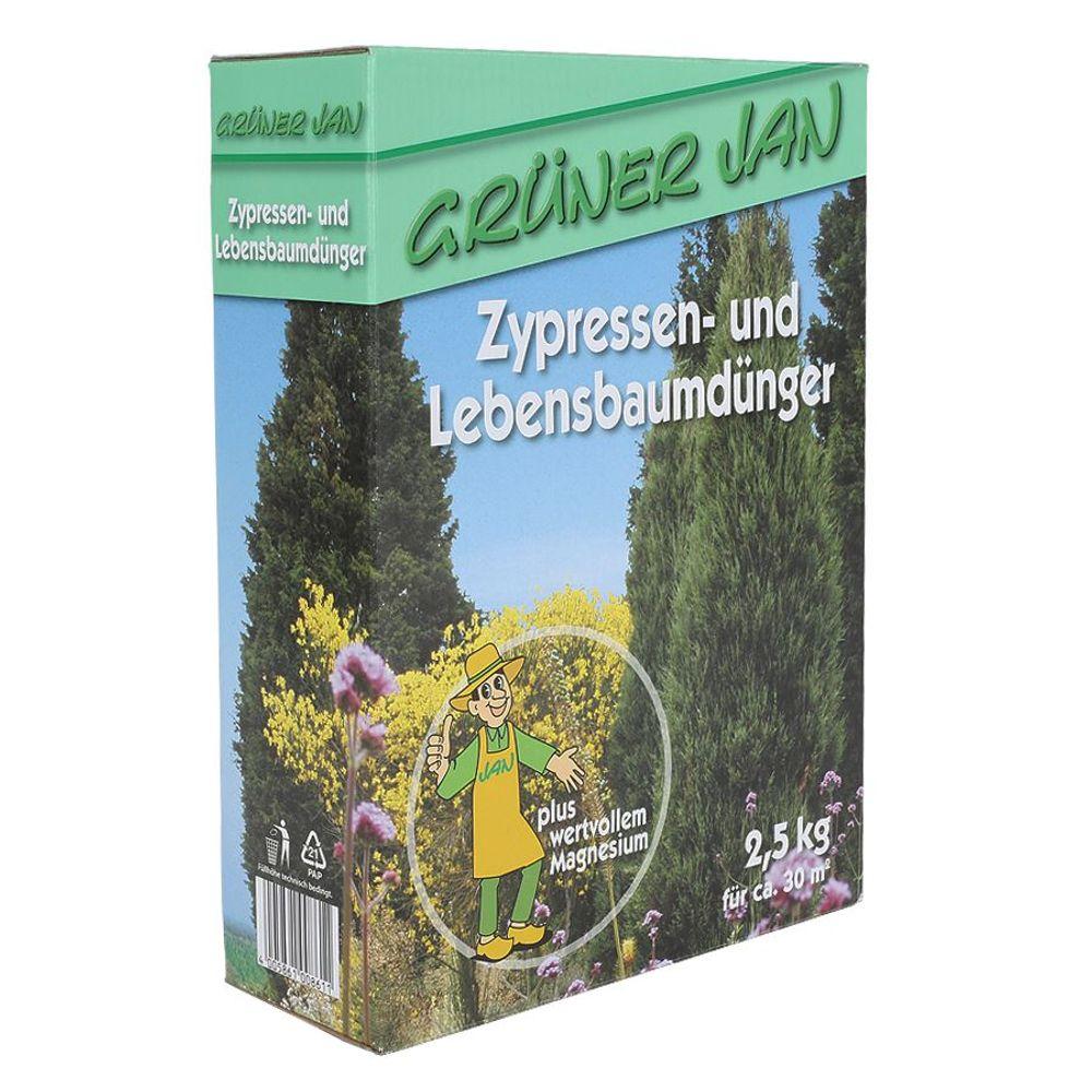 Grüner Jan Zypressen- und Lebensbaumdünger 2,5 kg – Bild 1