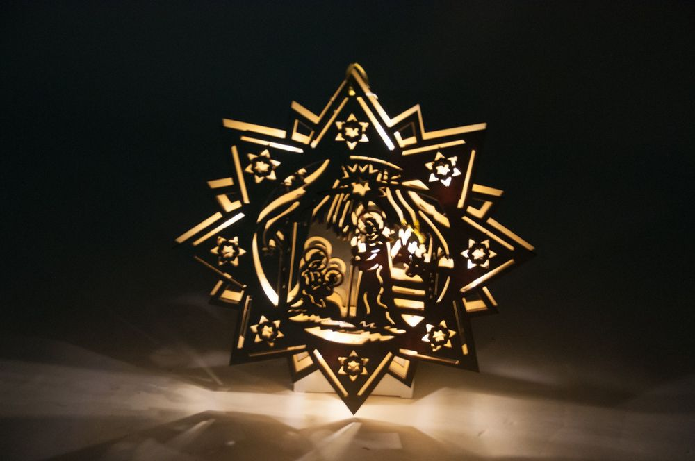 Leuchtstern 10 LED Lichterkette Adventsstern Weihnachtsstern Fensterbeleuchtung – Bild 2
