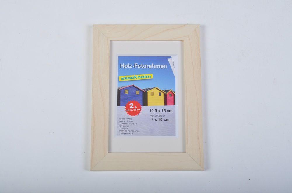 2er Pack Holz-Fotorahmen 10,5x15cm, versch.Farben – Bild 8