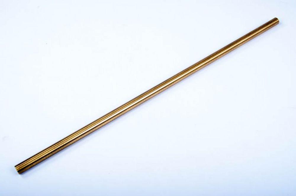 Wesco Relingsystem Rohr 16x1000 mm Messing Antik Gardinenstange Küchenreling