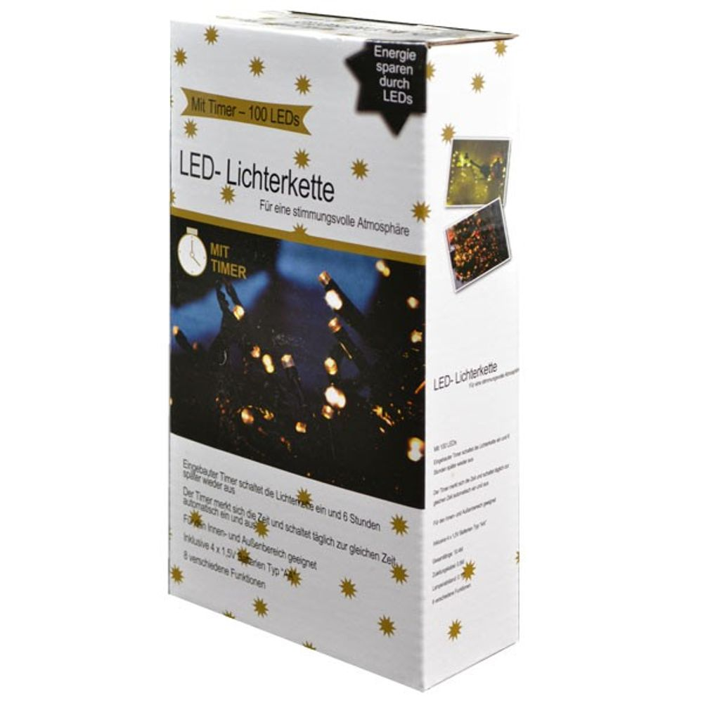 LED Lichterkette 100 mit Timer