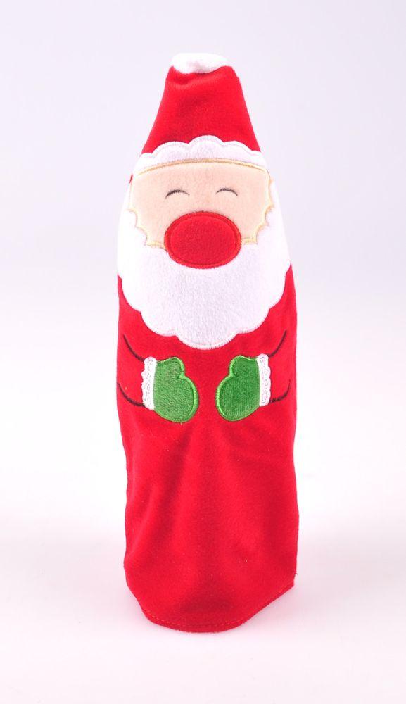 Flaschendekoration Weihnachtsmann Elch Pinguin Flaschenkostüm Weihnachtsdeko  – Bild 2