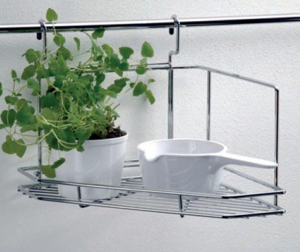 Wesco Relingsystem Eckregal rechts und links Edelstahl Küchenreling – Bild 1