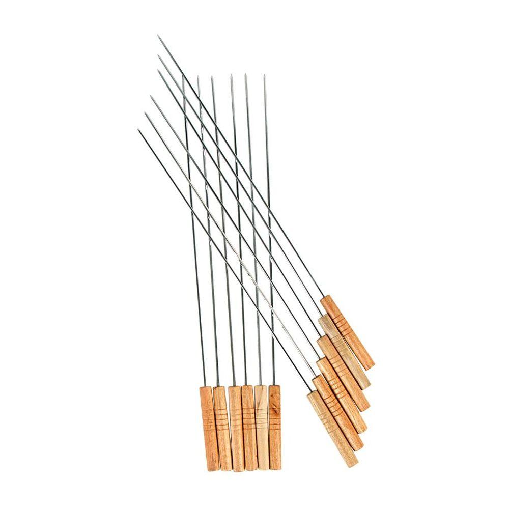 BBQ Grillspieße 12er-Set 48cm Schaschlikspieße Fleischspieße Schaschlik Spieße – Bild 1