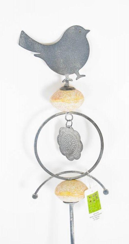 Metall-Gartenstecker mit Steinen – Bild 3