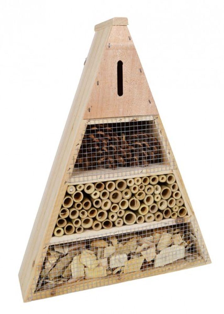 Insektenhotel aus Holz,Bambus und Zapfen