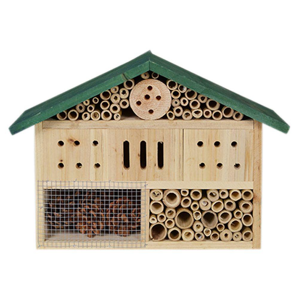 Holz Insektenhotel Insektenhaus Insektenkasten Nistkasten Brutkasten Gartendeko – Bild 2