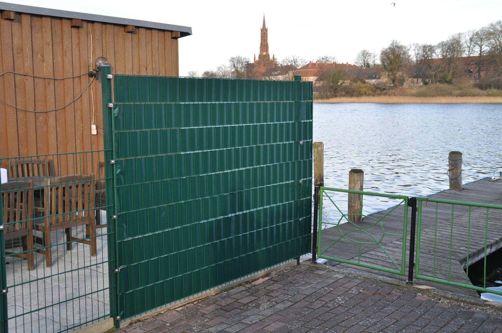 28m² PVC Sichtschutz grün Garten & Terrasse Zäune