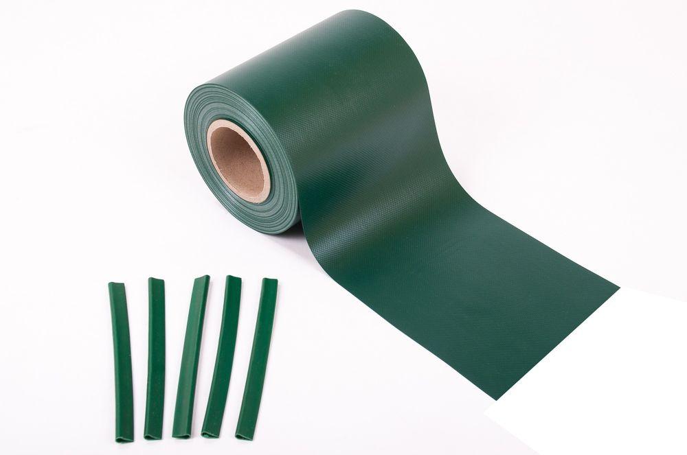 35m² PVC Sichtschutz grün – Bild 1