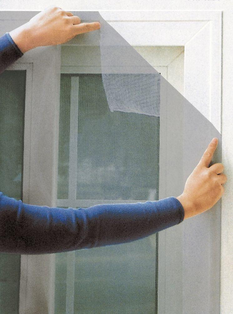 Fliegengitter für Fenster 100 x 100 cm grau