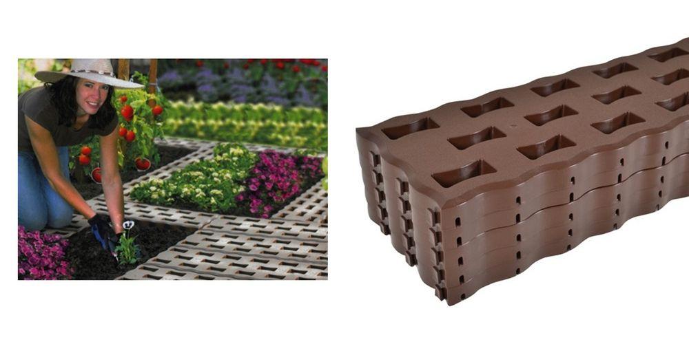 5 Beetplatten Braun Bodenplatten Gehwegplatten Rasenplatten Gartenweg Platten – Bild 1