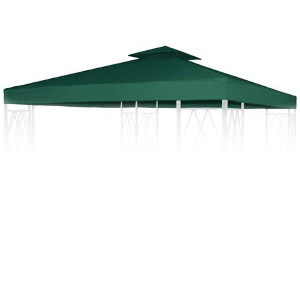 Pavillon Ersatzdach 3x3m grün Pavillondach Gartenpavillon Partyzelt Dachplane