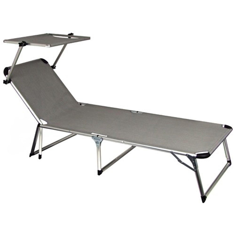 alu gartenliege mit sonnendach garten m bel liegen metall kunststoff. Black Bedroom Furniture Sets. Home Design Ideas