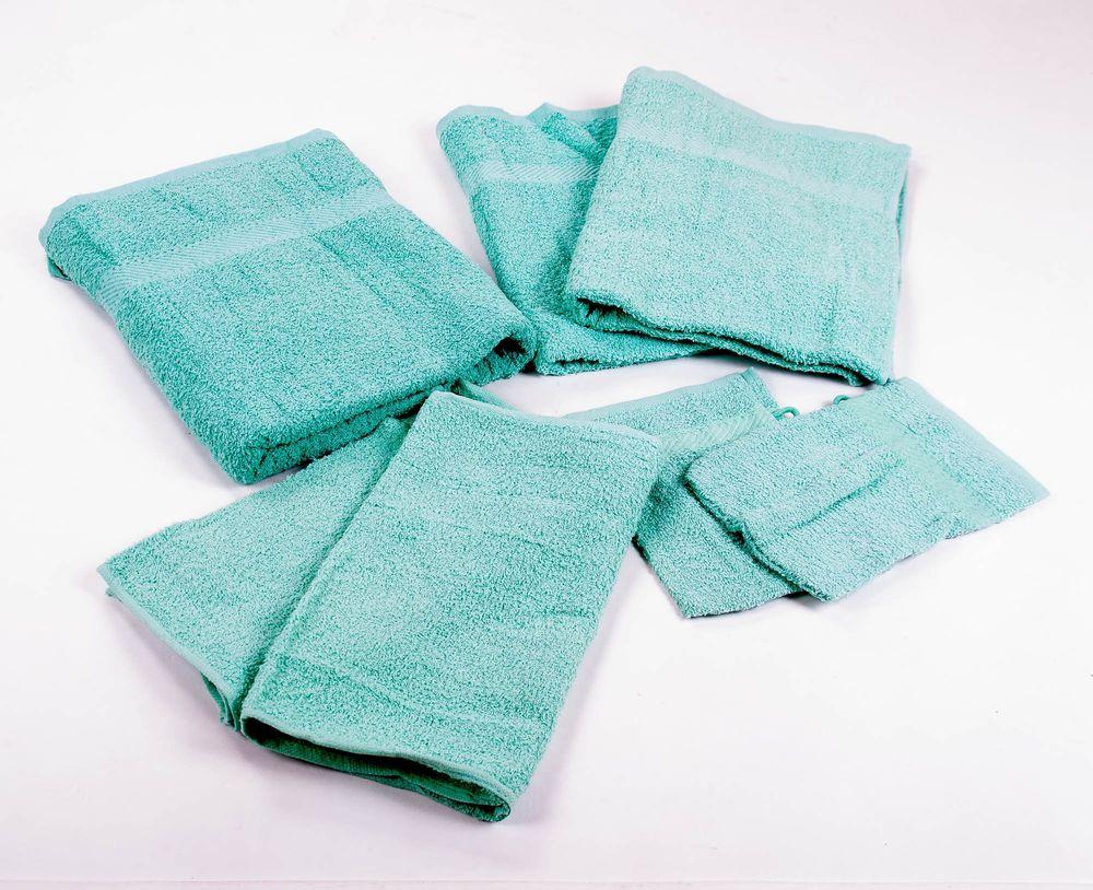 Handtuch-Set Frottee 7 tlg. verschiedene Farben – Bild 2