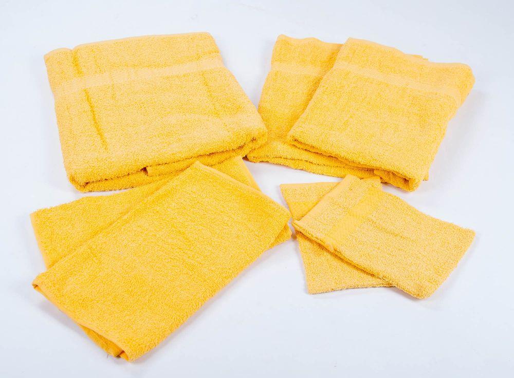 Handtuch-Set Frottee 7 tlg. verschiedene Farben – Bild 5
