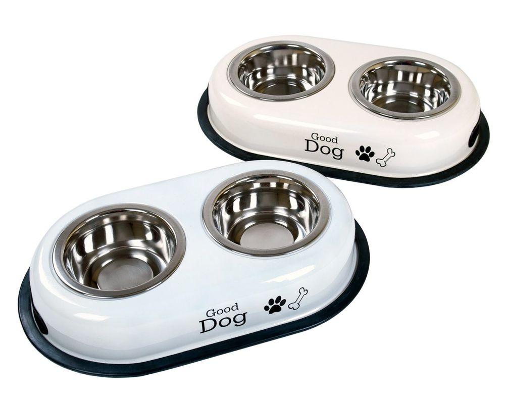 Hundefutterstation Futterstation Hundenapf Futternapf Napf Trinknapf Doppelnapf – Bild 1