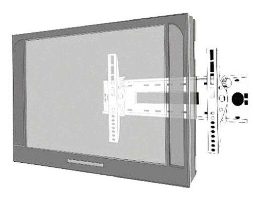 """Flachbildschirm Wandhalterung f 60"""" silber, schwar"""