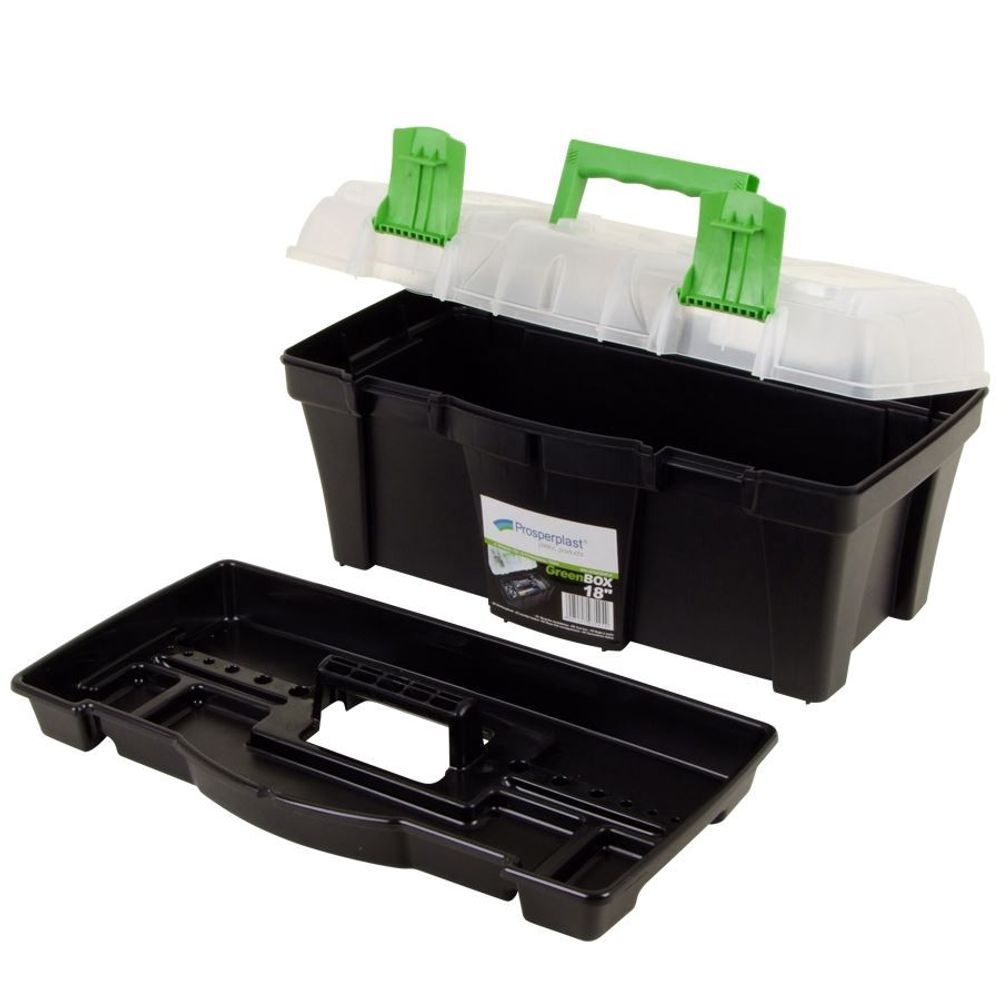 Grüner Jan Werkzeugkasten 45cm Werkzeug Werkzeugkiste Kiste Kasten Werkzeugbox – Bild 2