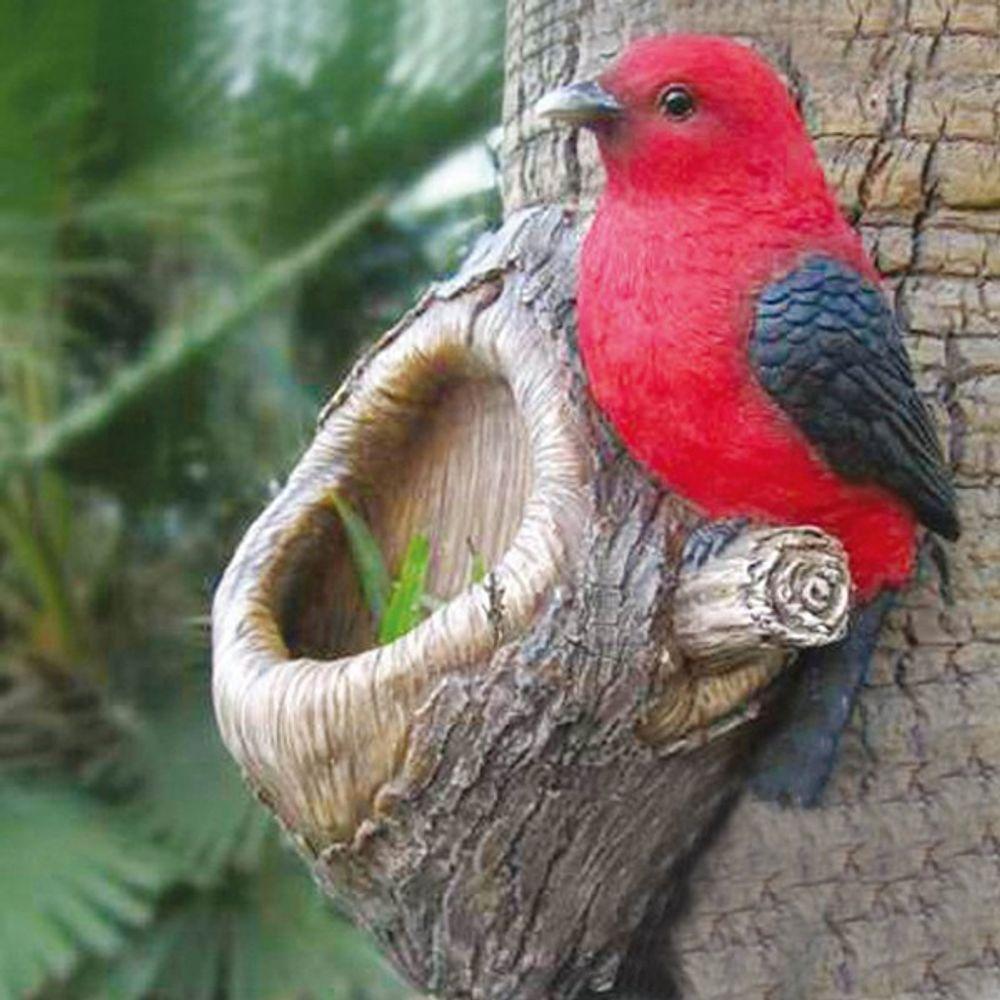 Baumstammdeko mit Vogelfutterstation Vogel Vogelfutterstelle Vogelfutterspender