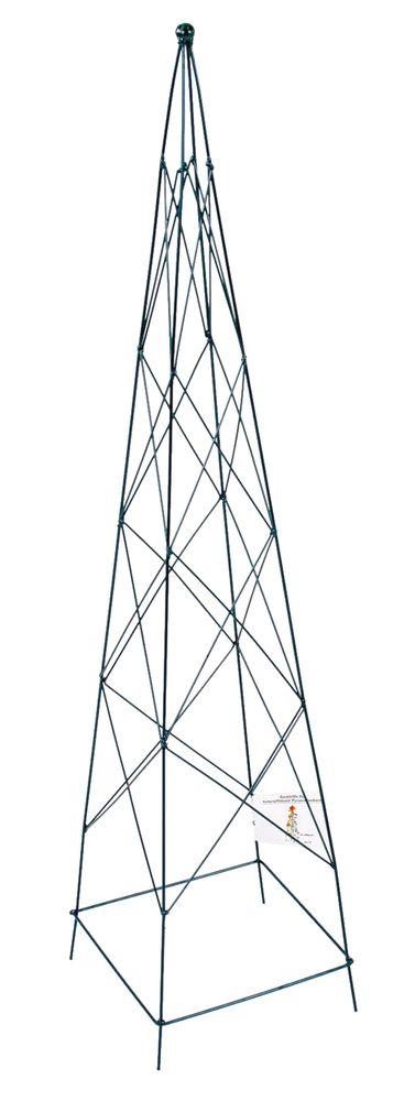 Metall Rankhilfe für Kübelpflanzen Pyramide 90cm Spalier Rankgitter Rankgestell