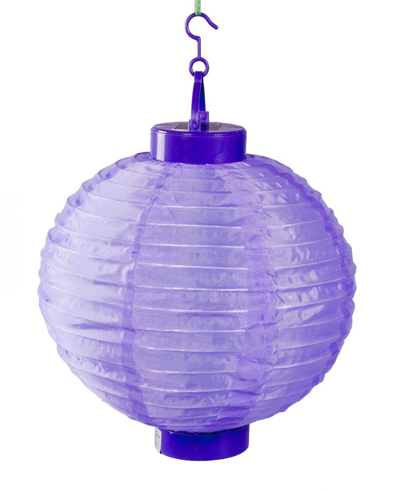 Solar-Lampion Ø25cm LED Papierlaterne Lampenschirm Lampions Laterne Garten Party – Bild 2