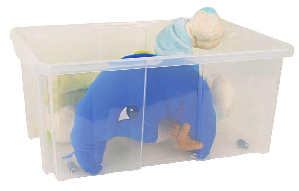 Aufbewahrungsbox Stapelbox Rollbox Spielzeugkiste Rollenbox Kiste 60x26,5x29cm