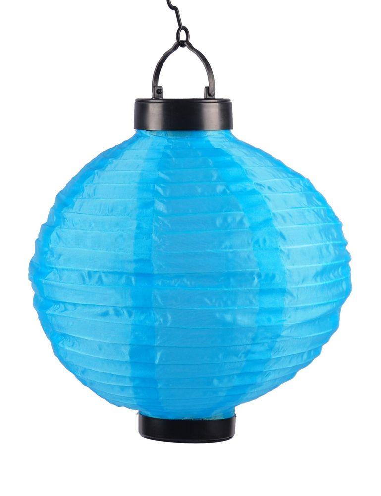 Solar-Lampion Ø20cm LED Papierlaterne Lampenschirm Lampions Laterne Garten Party – Bild 2