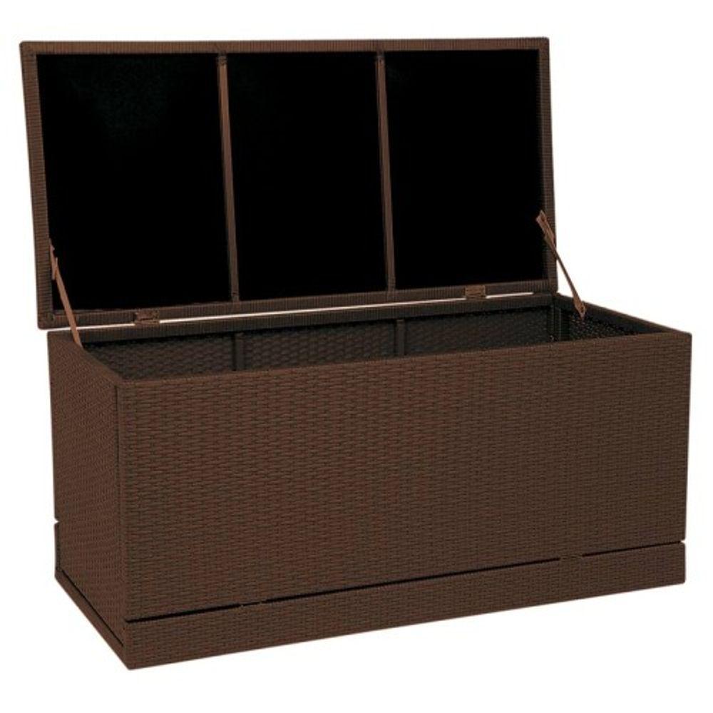 Polyrattan Gartenkissenbox Gartentruhe Auflagenbox Kissenbox Aufbewahrungsbox  – Bild 1
