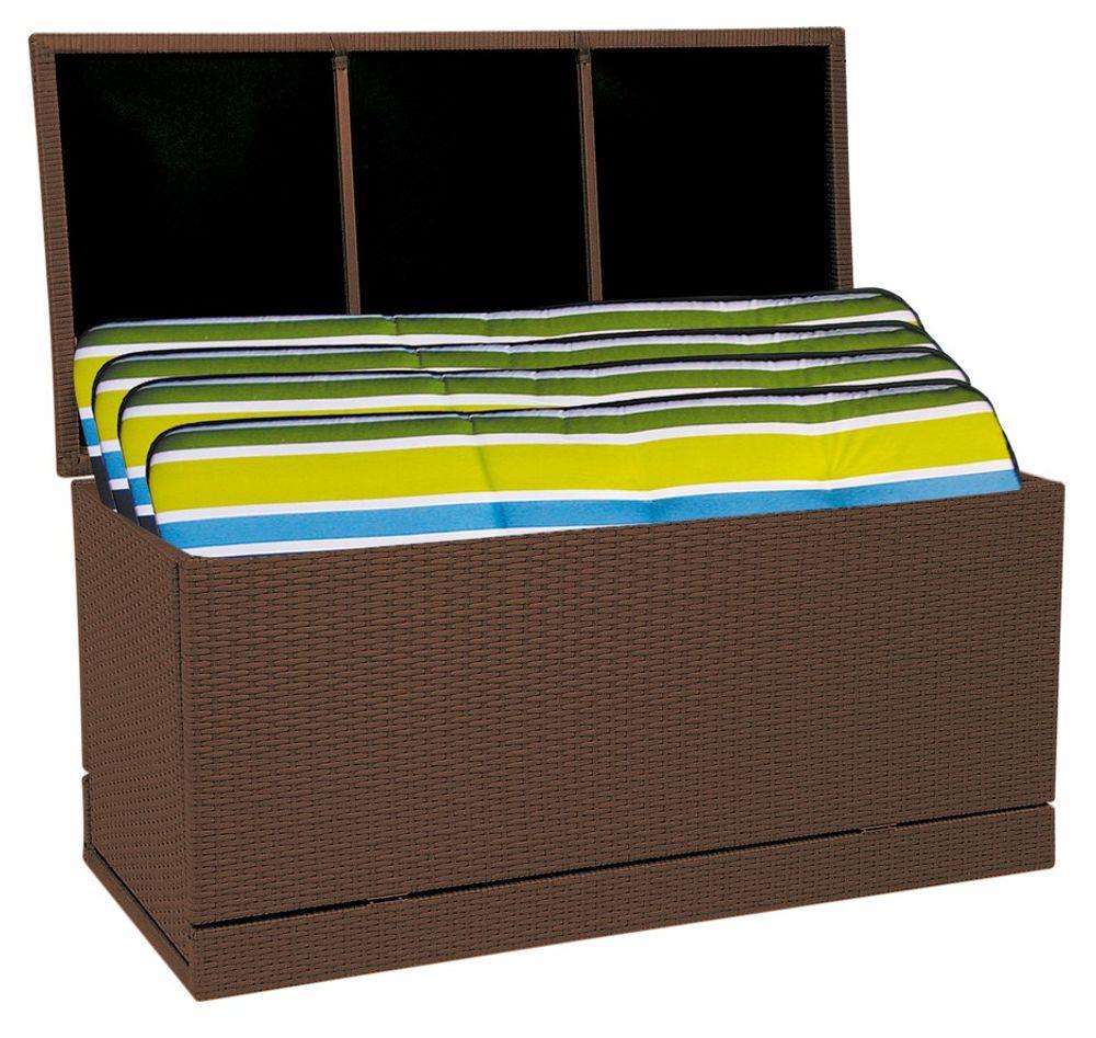 Polyrattan Gartenkissenbox Gartentruhe Auflagenbox Kissenbox Aufbewahrungsbox  – Bild 2