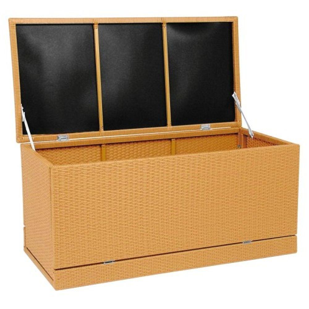 Zebra Polyrattan Kissenaufbewahrungsbox Gartenkissenbox – Bild 3