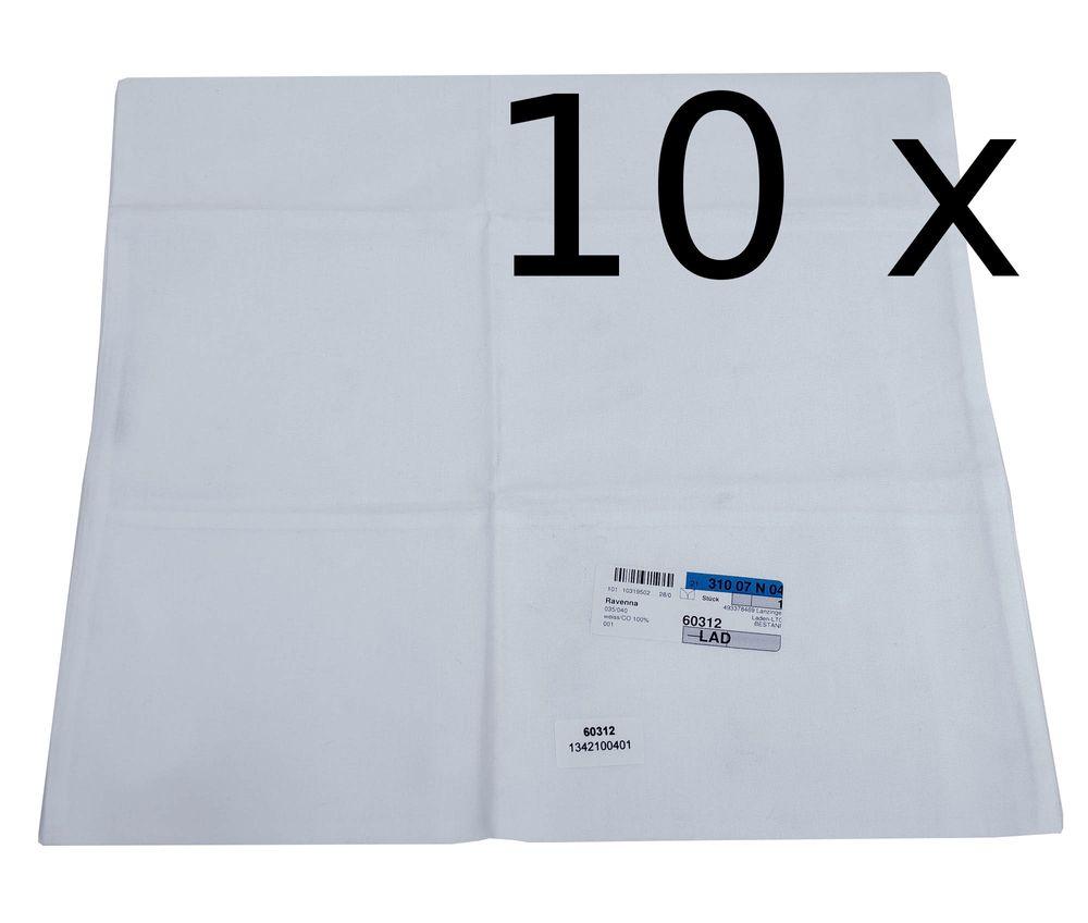 10x Kissenbezug Hotelwäsche Erwin Müller Ravenna in weiß 35x40 cm