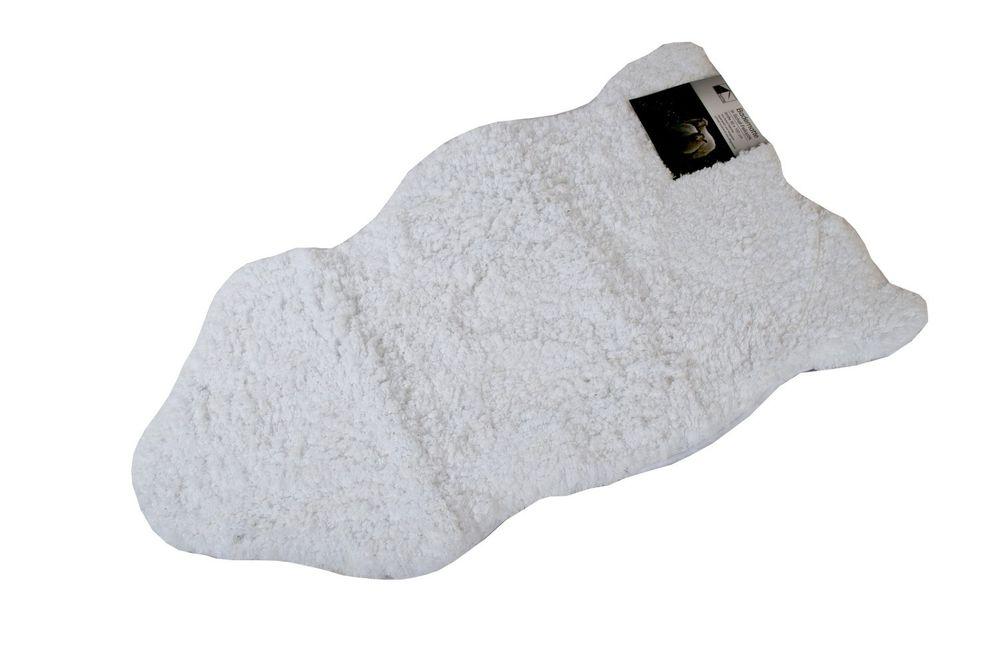 Badezimmermatte Schaffell Optik 100x60cm Badteppich Badvorleger Duschvorleger  – Bild 4