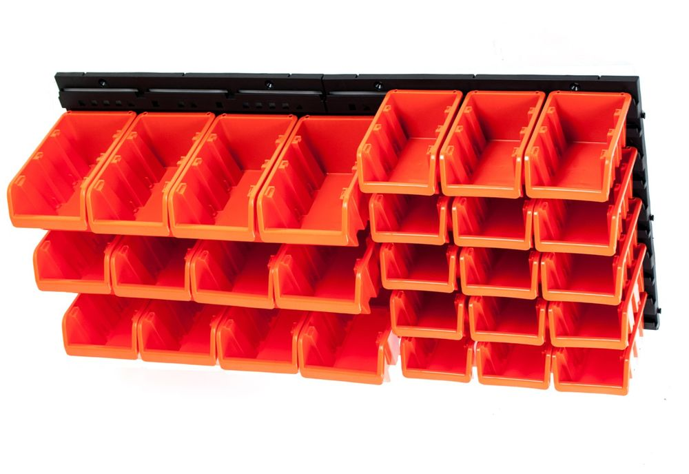 Sichtlagerkasten-System 30tlg. Lagerboxen Stapelboxen Sichtlagerkästen Wandregal – Bild 2